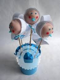 cake pops elegant cake pops in blue and brown for baby boy