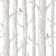vinyl peel and stick wallpaper shop nuwallpaper 30 8 sq ft grey vinyl birds peel and stick