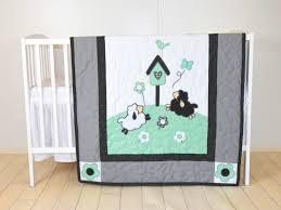 baby boy blanket lamb crib quilt organic sheep blanket mint