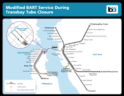 san francisco map east bay no service between sf east bay sept 5th 6th 7th bart gov