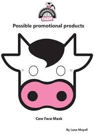 printable cow face mask pictures to pin on pinterest 500x392