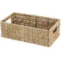 Seagrass Bathroom Storage Keep Jars In 5 97 Mainstays Seagrass Media Basket Ect