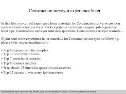 constructionsurveyorexperienceletter 140904120515 phpapp02 thumbnail 4 jpg cb u003d1409832339
