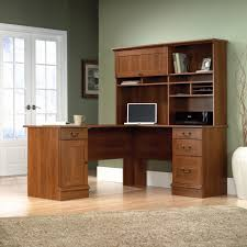 inval computer desk with hutch appealing realspace magellanshaped desk with hutch plus drawers and