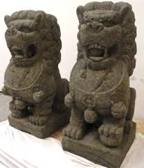 lion dog statue 4ft large fu foo dog lion statues solid carved garden temple