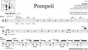 Bastille Bad Blood Pompeii Bastille U2013 Drum Sheet Music Onlinedrummer Com