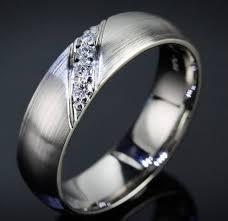 mens engagement rings white gold masculine brushed white gold engagement ring with diagonal accent