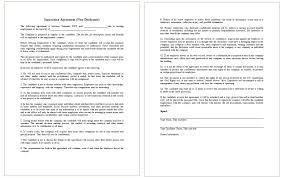 Non Disclosure Statement Template by Non Disclosure Agreement Template For Employee Dotxes