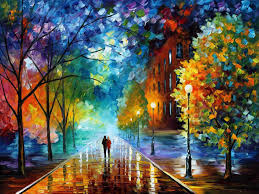 freshness of cold u2014 palette knife oil painting on canvas by leonid