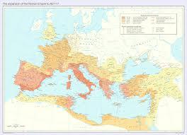 Rome On A Map Map Of The Roman Empire Ad 117 Usma Roman History Subratachak