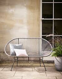 String Chair Indoor Outdoor Grey String Bench