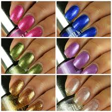 milani fierce foils nail lacquer glitter gloss garbage