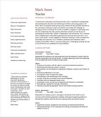 teachers resume template resume template resume sle pdf free resume template
