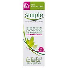 simple protecting light moisturizer spf 15 review simple kind to skin protecting light moisturiser spf 15 125ml