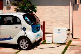 mitsubishi electric car nichicon ev power station connection enabled for electric