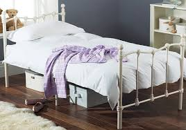 White Metal Bed Frame Single Hyder Amelia Bed 3ft Single Pink Or White Metal Bed Frame
