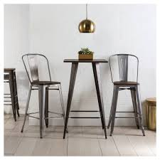 Rustic Wood And Metal Dining Chairs Titus Rustic Wood And Metal Pub Table Zuo Rustic Wood Woods