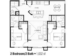 2 bedroom floor plan at apartments in house