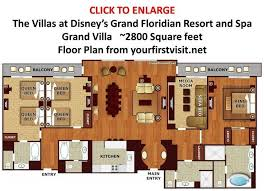 disney world floor plans theming and accommodations at the villas at disney s grand