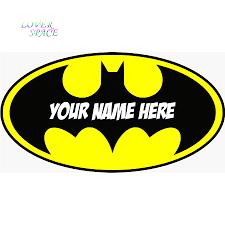 Batman Home Decor Personalised Batman Logo Decal Removable Wall Sticker Home Decor