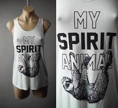 Sloth Meme Shirt - sloth spirit animal meme graphic gym yoga yogi white tank top 214 mv