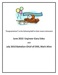retirement announcement st charles department retirement announcement