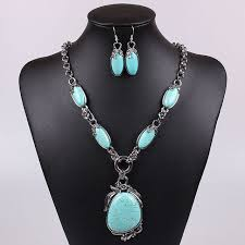 tibetan silver turquoise necklace images Factory direct sale navajo turquoise jewelry vintage tibetan jpg