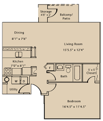 Willow Floor Plan by One Bedroom Apartments Fort Wayne Willow Creek Crossing Apartments