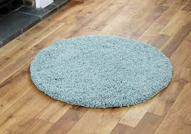 modern small extra x large rug thick 5cm pile duck egg blue