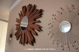 ruffling feathers wall of sunburst mirrors diy