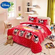 online get cheap red mickey mouse bedding aliexpress com