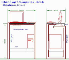 Diy Standing Desk Plans by 7 Best Stand Up Desk Images On Pinterest Desk Dimensions Stand