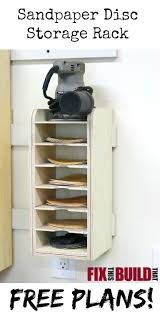 Plywood Storage Rack Free Plans by Sandpaper Disc Storage Rack Fixthisbuildthat