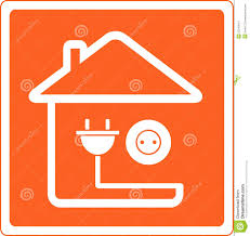 icon with house and socket with plug stock images image 23543014