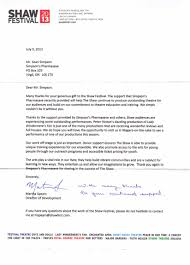 sle thank you letter for donations