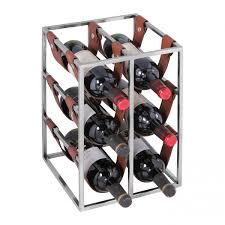 finebuy design aluminium weinregal flame für 11 flaschen 100 x