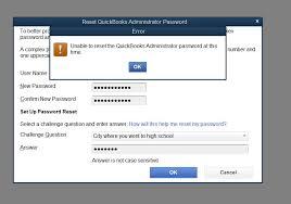 reset quickbooks online premier 2016 lost admin password reset function gives error m
