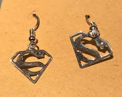 superman earrings superman earrings etsy