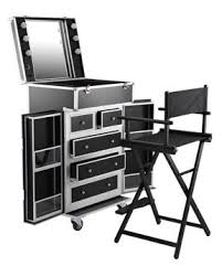 portable hair and makeup stations top quality saloon aluminium stainless makeup stand chair set