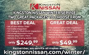 nissan canada winter tires service specials kingston nissan
