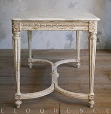 Gold Entry Table Eloquence Contessa Entry Table In Chipped White Kathy Kuo Home