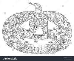 pumpkin halloween coloring book vector illustration stock vector