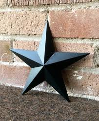 Country Star Home Decor by Set Of 3 8 Inch Black Tin Metal Barn Stars Country Barn Star