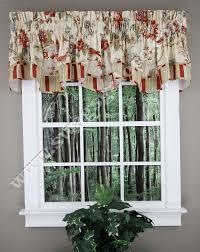 Waverly Curtains And Drapes Charleston Chirp Scalloped Valance U2013 Papaya Waverly Curtains