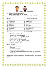 spanish words for kids worksheets free here