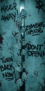 halloween urn decorations keep away turn back zombies inside door cover horror decoration