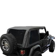 jeep wrangler convertible 1997 2006 tj jeep wrangler black soft top convertible kit