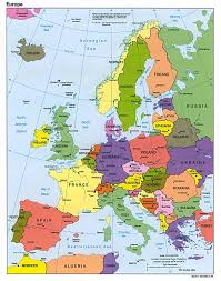 spain on a map spain map
