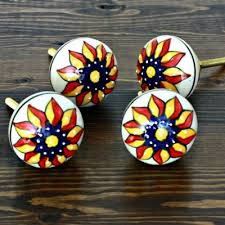 painted ceramic cabinet knobs set of 4 round embossed ceramic cabinet knob painted ceramics