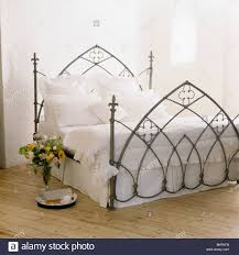 Gothic Style Bed Frame by Gothic Style Black Wrought Iron Bed White Stock Photos U0026 Gothic